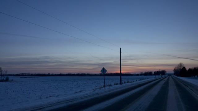 Day Three - Sunset, County Road