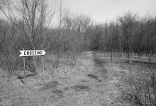 Day Fifty Eight, 'NoWhere, MN'. Crossing by the Minnesota River, Treaty Site. This place has that sadness.