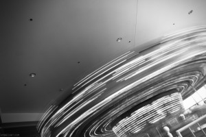 Day Eighty Nine, 'NoWhere, MN'. Carousel at mall in B&W.